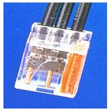 <strong>Morris Products</strong> Push-In Wire Connectors in Orange with 3 Pole (Hanging Bag 25 Pack)