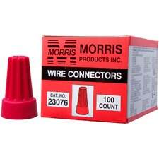 Screw-On Wire P6 Connectors in Red (Boxed 100 Pack)