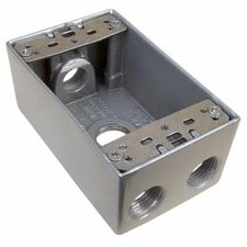"4.5"" Weatherproof Boxes in Gray with 4 Outlet Holes"