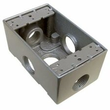"4.5"" Weatherproof Boxes in Gray with 0.5"" Outlet Holes"