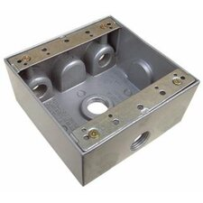 "Weatherproof Boxes in Gray with 4"" Outlet Holes"