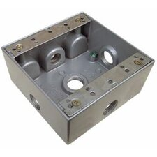 """2"""" Weatherproof Boxes in Gray with 5 Outlet Holes"""