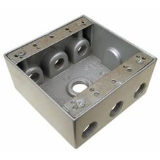 "<strong>Morris Products</strong> 4.5"" x 4.5"" Weatherproof Boxes in Gray with 7 Outlet Holes"