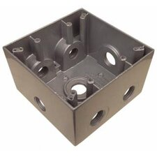 Weatherproof Boxes in Gray with 7 Outlet Holes