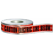 Caution Buried Electric Line Below' Detectable Undergroud Tape