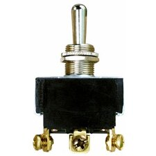 Heavy Duty Momentary DPDT (On)-Off-(On) Toggle Switch
