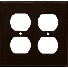 2 Gang Duplex Lexan Receptacle Wall Plates in Brown
