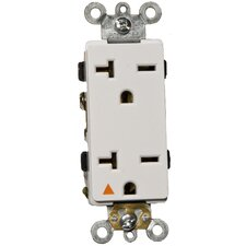 20A-250V Decorator Isolated Ground Duplex Receptacle in White