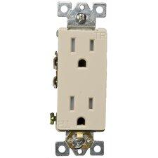 15A-125V Decorator Tamperproof Duplex Receptacle in Ivory
