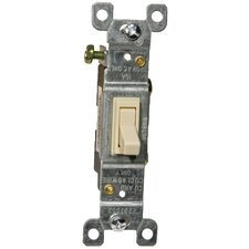 15A-120/277V Single Pole Toggle Switch in Ivory