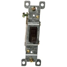 15A-120/277V Single Pole Toggle Switch in Brown