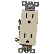 15A-125V Decorator Duplex Receptacle in Ivory