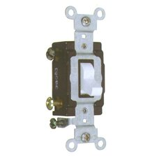 20A-120/277V Commercial Single Pole Toggle Switch in White