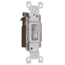 15A-120V Lighted Quiet Switch Single Pole