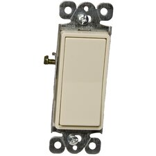 Decorator Single Pole Lighted Switches in Ivory