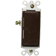 15A-120/277V Single Pole Decorator Switches in Brown