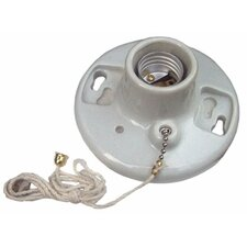 "Porcelain Receptacles Pull Chain 6"" Lead"