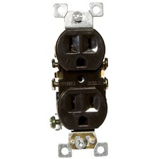 Standard Duplex Receptacle in Brown