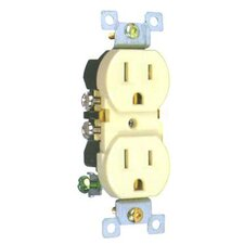 Standard Duplex Receptacle in Almond