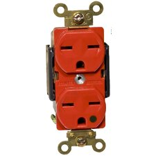 20A-250V Hospital Grade Duplex Receptacle in Red