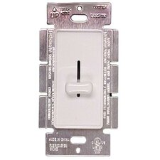 Slide Single Pole Dimmer in White