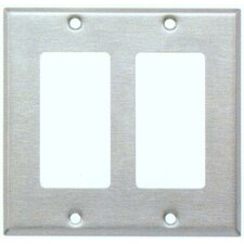 Two Gang Decorator and GFCI Metal Wall Plates in Stainless