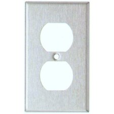 Gang and Duplex Receptacle Metal Wall Plates in Stainless
