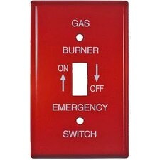 1 Gang Oil Emergency Metal Switch Plates