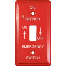 Utility Gas Emergency Metal Switch Plates