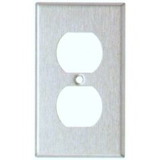 <strong>Morris Products</strong> Midsize 1 Gang Duplex Receptacle Stainless Steel Metal Wall Plates