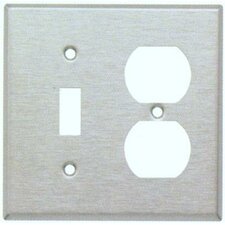 Stainless Steel Metal Wall Plates with 1 Toggle 1 Duplex