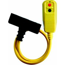 Right Angle Portable GFCI Tri-Tap for Personal Protection