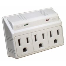 3 Outlet Wall Outlet Surge Protector