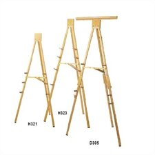 D305 Portable 6' Folding Easel with Chart Clamp