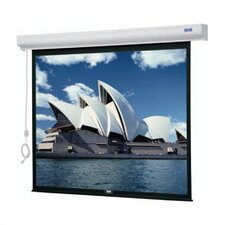 "Designer Cinema Electrol Front Projection Screen - 43 x 57"" - 72"" Diagonal - Video Format - 4:3 Aspect - Matte White"