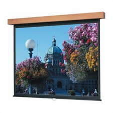 "Matte White Lexington Designer Manual Screen - 84"" x 84"" AV Format"