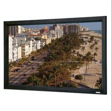 "High Contrast Da-Mat Cinema Contour Fixed Frame Screen - 57 1/2"" x 77"" Video Format"