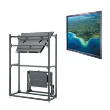 "Da-Plex Thru-the-Wall Rear Projection Screen - 43 1/4"" x 57 3/4"" Video Format"