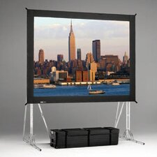 "Fast Fold Rear Da-Tex 144"" H x 144"" W Portable Projection Screen"