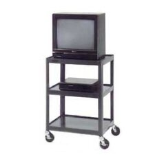 "<strong>Da-Lite</strong> Pixmate 18"" x 24"" Adjustable Shelf Standard Television Cart [32"" - 42"" Height]"