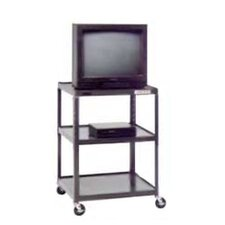 "Pixmate 25"" x 30"" Shelf Adjustable Height Television Cart [Up to 42"" Height]"
