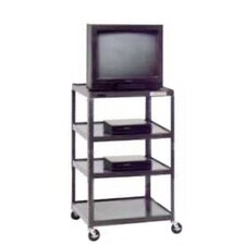 "<strong>Da-Lite</strong> Pixmate 25"" x 30"" Tall Multi-Shelf High Television Cart [54"" Height]"