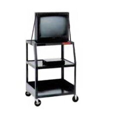 "Pixmobile Wide Base 22"" x 32"" Shelf Video Cart [49"" Height]"