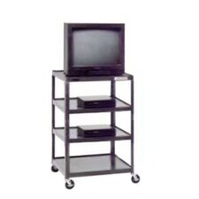 "<strong>Da-Lite</strong> Pixmate 25"" x 30"" Multi-Shelf Television Cart [48"" Height]"