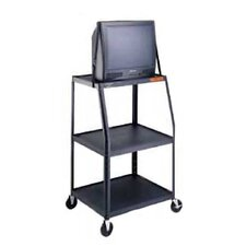 "Pixmate 22"" x 32"" Height Adjustable Shelf High Television Cart [50"" - 54""]"