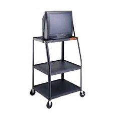 "Pixmate 22"" x 32"" Height Adjustable Shelf Television Cart [Up to 48"" Height]"
