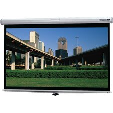 "Deluxe Model B High Contrast Matte White 72"" Manual Projection Screen"