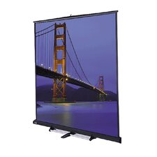 "Matte White Carpeted Model C Portable Screen with Grey Carpeted Case - 87"" x 116"" Video Format"