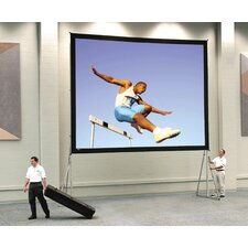 Dual Vision Heavy Duty Deluxe Fast Fold Complete Front and Rear Projection Screen - 18' x 24'