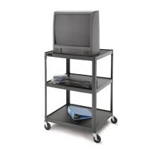 "Pixmate 25"" x 30"" Adjustable Tall Multi-Shelf High Television Cart [54"" Height]"